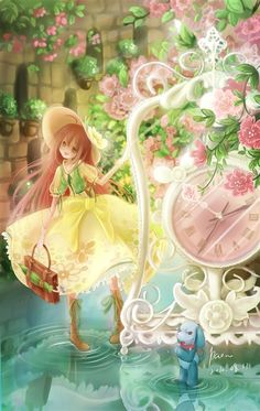 Kobato and Ioryogi~The Garden of Time Otaku, I Love Anime, All Anime, Art Manga, Manga Anime, Comic Drawing, Fanart, Anime Artwork, Anime Scenery