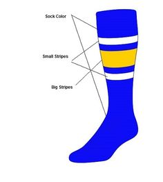 Custom  Knee High Socks -  Stripe Socks - Style E