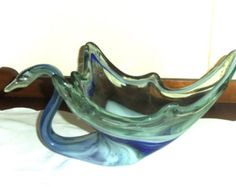 10 Large Chalet or Lorraine Blown Glass Swan by Beautalicious