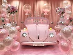 I love this set up for a girl's birthday party ? Balloon Decorations, Birthday Party Decorations, Wedding Decorations, Birthday Parties, Balloon Backdrop, Balloon Wall, Girls Party, Barbie Party, Pink Parties