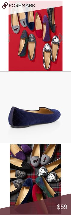 New- Talbots's-Georgina Quilted Flats-Velvet 🎉 We've elevated the look and feel of a plush, smooth-to-the-touch velvet by adding a quilted finish for a subtle yet sophisticated flair. In an easy, slip-on silhouette, the minimalist shoe also features cushy memory foam footbeds for an effortless fit and unequivocally comfortable feel. Indigo Blue.  Velvet uppers Antibacterial breathable lining Grosgrain piping Leather outsoles Memory foam footbeds Rubber heels Imported Talbots Shoes Flats…