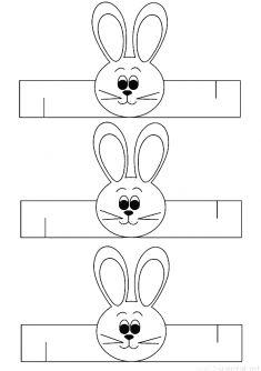 Rabbit wristband for use in preschool kindergarten activities . Kids Learning Activities, Easter Activities, Kindergarten Activities, Preschool Crafts, Preschool Activities, Cute Kids Crafts, Farm Crafts, Easter Crafts For Kids, Diy For Kids