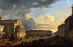 Theatre Square in Warsaw by Marcin Zaleski, 1838 (PD-art/old), Muzeum Warszawy