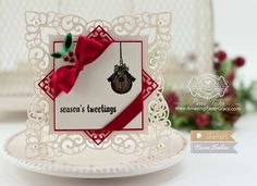 Christmas Card Making Ideas by Becca Feeken using Waltzingmouse Little Deers and Spellbinders Labels 42 Decorative Accents - www.amazingpapergrace.com
