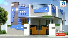 44+ new ideas house plans duplex front elevation House Front Wall Design, Village House Design, Small House Design, Open House Plans, Southern House Plans, Front Elevation Designs, House Elevation, Rustic Houses Exterior, Independent House