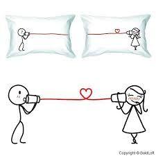 Resultado de imagem para couple pillowcase