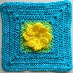 bright flower (block #51) by dorsia, via Flickr