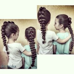 Braids, braidstyles, braidsforgirls, коса из резинок, прически из кос