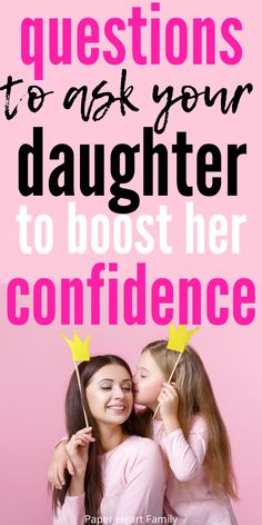 49 questions to ask your daughter if you are wondering how to raise confident daughters. Building up our daughter's self esteem is SO important, and with these questions, it's easy to open up the lines of communication between mother and daughter. Raising Daughters, Raising Teenagers, Parenting Advice, Kids And Parenting, Parenting Quotes, Mother Daughter Activities, Kids Questions, Affirmations For Kids, Education Positive