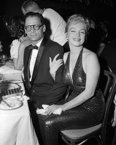 Marilyn Monroe and her third husband Arthur Miller