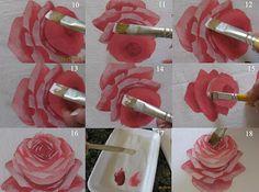 Agulhas e Pinceis: PAP para pintar rosas