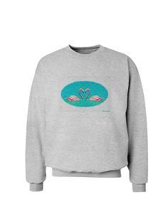 TooLoud Love Birds - Flamingos Watercolor Sweatshirt