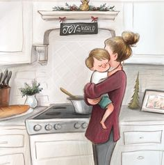 Hope that you all had a lovely thanksgiving! I'm kind of excited to get back into my normal routine and get back to drawwwwing ☺️☺️☺️ It's almost as if I️ am addicted to it. Mother Daughter Art, Mother Art, Mother And Child, Mommy And Son, Mom Son, Mom And Baby, Baby Illustration, Cute Couple Art, Girly Drawings