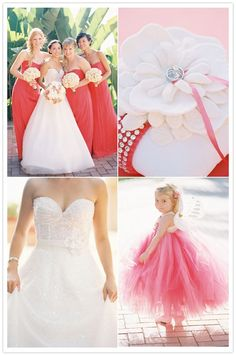 Coral Wedding. I'm beginning to love coral :)