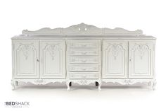 I love this ivory shabby chic sideboard, beautifully carved and exceptionally high quality workmanship.