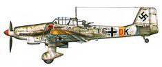 "Junkers JU-87 ""Stuka"". » Ju-87 D-1,№:T6+DK I Gruppe Stukageschwader 2, Frente del Este, Enero-Febrero de 1942."
