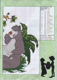 Borduurpatroon: Disney Allerlei *Cartoon Cross Stitch Pattern ~Jungle Book 2/2~