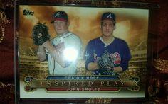 2015 TOPPS SERIES 1 - INSPIRED PLAY - BRAVES CRAIG KIMBREL & JOHN SMOLTZ in Sports Mem, Cards & Fan Shop, Cards, Baseball | eBay