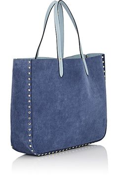 Barneys New York Reversible Tote Bag - Tote Bags - 505450606 en tissu tuto Denim Tote Bags, Denim Handbags, Fall Handbags, Reversible Tote Bag, Patchwork Jeans, Shopping Bag, Online Shopping, Leather Bag, Pebbled Leather