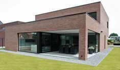 minimalist art and architecture Brick House Designs, Brick Design, Duplex House Design, Modern House Design, Modern House Facades, Modern Architecture, Brick Cladding, Facade House, Future House