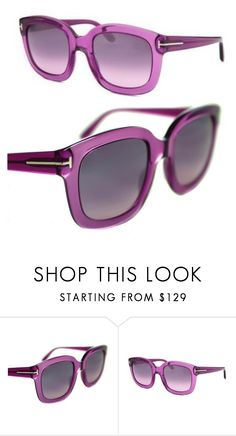 736bddd0e2a NEW Authentic Tom Ford TF279-90W Womens Translucent Purple CHRISTOPHE  Sunglasses