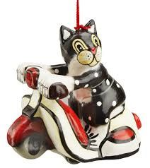 cats christmas figurines - Google Search