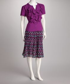 Orchid Button-Up Ruffle Top & Skirt   Daily deals for moms, babies and kids