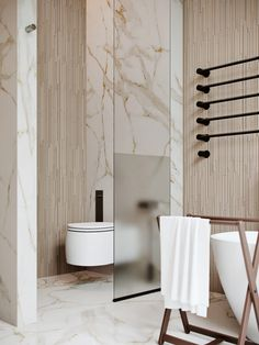 Emily Henderson bathroom trends 2019 Toilet privacy glass design 10 of the Most Exciting Bathroom Design Trends for 2019 New Bathroom Designs, Bathroom Trends, Modern Bathroom Design, Bathroom Interior Design, Bathroom Renovations, Bathroom Ideas, Bathroom Storage, Bathroom Organization, Toilet And Bathroom Design