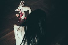 Hands full of early flowers by Anna O. Photography