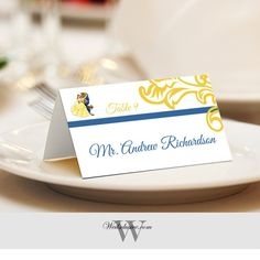 Beauty and the Beast Place Cards, Wedding Escort Cards, Disney Wedding Name Cards, Tented or Flat - Set of 12