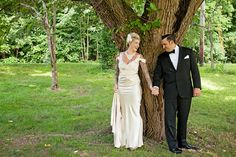 Vintage Themed New York Wedding - Vintage Bridal dress for this cool vintage wedding