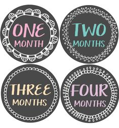 Chalkboard Frame Baby Month Stickers