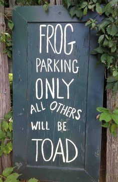 Such a punny sign. I'm putting one in the garden this spring. ^..^