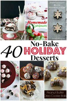 40 No-Bake Holiday Desserts | http://www.ihearteating.com | #christmas #dessert #recipe
