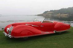 1937 Delahaye Figoni & Falaschi Roadster.