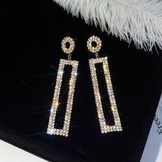 Sanag Pendant With Rectangular Shape Geometric Type, Fringe Earrings, Fashion Earrings, Amazing Women, Diamond Earrings, Rose Gold, Shapes, Gemstones, Pendant