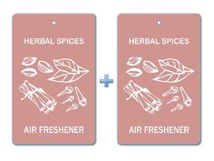 Herbal Spices Air Freshener Paper Hanging Bar (Pack of 2)/Car-Home-Office Natural Fragrance Deodorizer