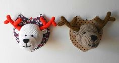I feel like you could alter a different pattern, butvhey good to see Crochet Taxidermy, Crochet Deer, Crochet Home, Crochet Gifts, Crochet Yarn, Crochet Amigurumi, Amigurumi Patterns, Crochet Dolls, Crochet Kawaii