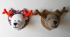 Trophée cerf. On vous explique aussi comment crocheter un trophée ours.
