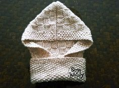 Patron en espanol tejer cuello capucha-Soy Woolly Knitting Patterns Free, Knit Patterns, Free Knitting, Baby Knitting, Crochet Baby, Stitch Patterns, Knit Crochet, Kids Hats, Crochet Scarves
