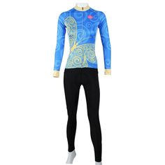 (37.69$)  Know more - http://aioe4.worlditems.win/all/product.php?id=32458034342 - HOT!! PALADIN women Long Sleeve Cycling set blue butterfly Bike Wear set/Breathable Bicycle Clothing/ Cycling Clothes