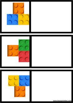 Página 1 de 2 Symmetry Activities, Toddler Learning Activities, Teaching Kids, Kids Learning, Kindergarten Activities, Preschool Activities, Space Activities, Lego Math, Early Childhood Education
