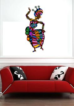 Colorful Cultural Design 2 Color Art Culture  Vinyl by uBerDecals