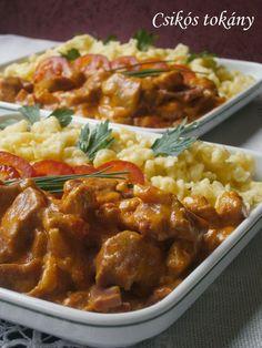 Ritkábban jelentkezek a blogon, és sajnos nézelődni sincs túl sok időm, mozgalmas napok, hetek vannak mögöttem. Az augusztus vége - szeptem... Pork Recipes, Real Food Recipes, Cooking Recipes, Delicious Dinner Recipes, Yummy Food, Hungarian Recipes, Good Foods To Eat, Pork Dishes, Food 52