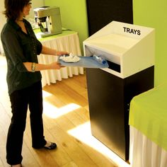 The AP/Tray bin ideal for use in canteens.