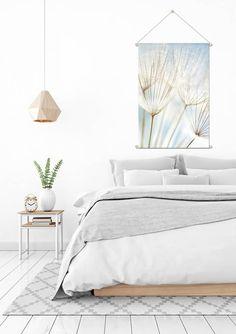 Foto op Textielposter Paardenbloem Dandelion - DesignClaudShop