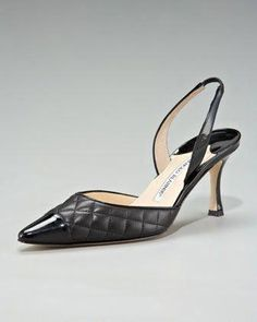a3551aa88a52 Irie Quilted Cap-Toe Slingback by Manolo Blahnik at Neiman Marcus.