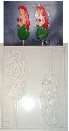 ARIEL LITTLE MERMAID CHOCOLATE CANDY MOLD MOLDS FAVORS
