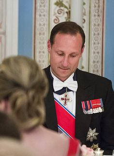 Crown Prince Haakon of Norway shaved off his beard in a bizarre prank during the King and Queen's joint 80th birthday celebrations.
