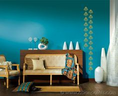 Visit inspiration gallery for wall painting ideas & wall colour combinations. Get interior & exterior wall paint design ideas for your walls only at Asian Paints. Wall Painting Living Room, Wall Painting Decor, Decor Home Living Room, Wall Paint Colors, Paint Colors For Living Room, Living Room Designs, Bedroom Wall, Painting Walls, Wall Colours